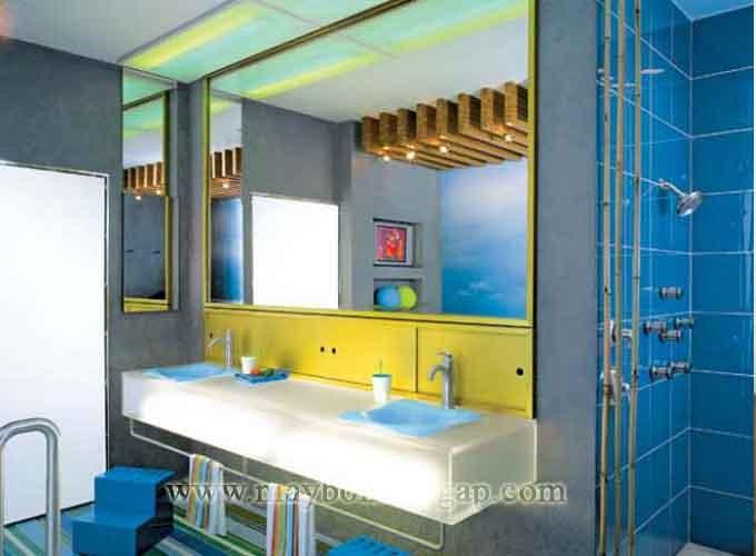 Nhà tắm thiết kế theo gam mùa xanh ấn tượng