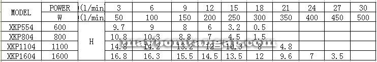 Máy bơm nước LEO XKP1604 Lưu lượng